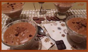 Riz au lait au chocolat caramel