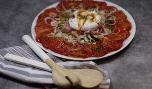 Salade de légumes rôtis mozzarella et jambon cru