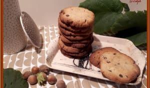 Cookies à la poudre de noisette et pépites de chocolat