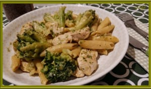 Penne au poulet et brocolis