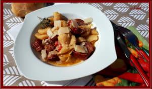 One pot pasta aux saucisses sauce aux poivrons