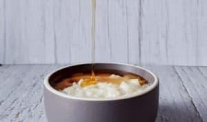 Riz au lait vanille et caramel liquide