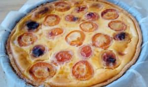 La tarte au flan à l'abricot