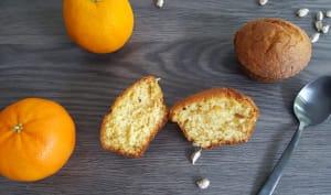 Muffins amandes, fleur d'oranger, cardamome