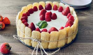 Tiramisu façon charlotte aux fraises