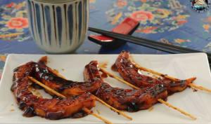 Brochettes de potimarron sauce yakitori