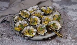 tartare d'huîtres à la mangue