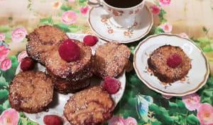 Biscuits aux framboises et à la farine de soja