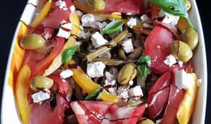 Salade de haricots verts à la grecque