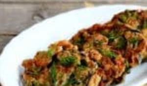 Escalopes d'aubergines farcies aux tomates séchées et mozzarella