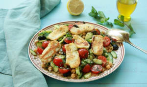 Salade de pois chiches façon grecque
