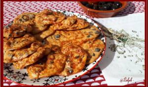 Biscuits apéro aux olives noires et chorizo