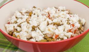 Sarrasin poêlé aux haricots verts et tomates