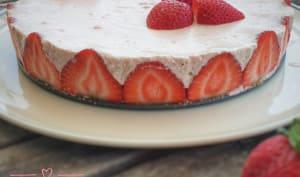 Cheesecake sans cuisson aux fraises