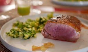 Filet de canard grillé