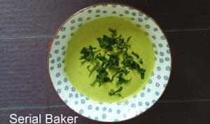 Soupe froide au poivron vert et yaourt grec