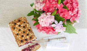 Gâteau aux mûres sans gluten
