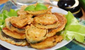 Aubergines et courgettes frites légères