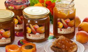Confiture d'abricots, rhubarbe et fève tonka