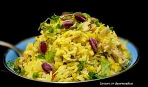 Poulet au riz pilaf safrané
