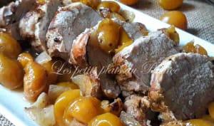 Filet mignon de porc aux mirabelles
