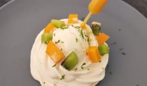 Pavlova glacée aux fruits exotiques