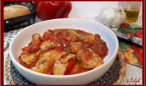Aiguillettes de poulet aux poivrons et tomates