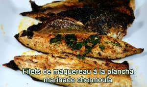 Filets de maquereau àla plancha, marinade chermoula