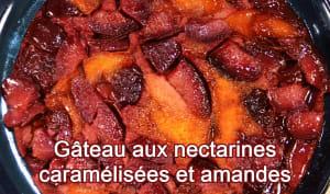 Gâteau aux nectarines caramélisées et amandes