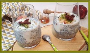 Pudding aux graines de chia et yaourt grec