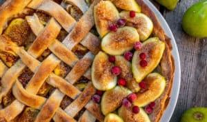 Tarte aux figues fraîches, amandes et épices