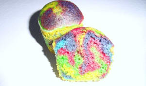 Gâteau marbré rainbow
