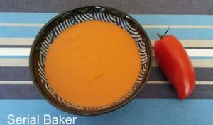 Gaspacho de tomate et pourpier