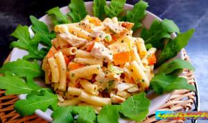 Salade de macaronis à la volaille parfumée