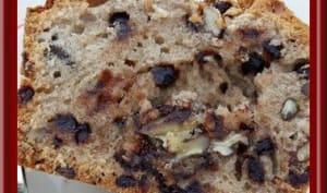 Cake moelleux crème de marrons, pépites de chocolat et noix de pécan