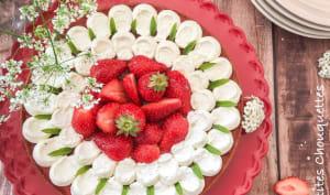 Tarte aux fraises et sa chantilly vanille mascarpone