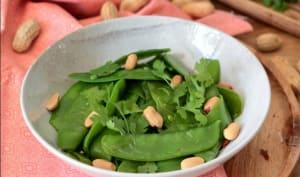 Salade de pois gourmands à la thaï