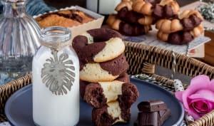Marbrés chocolat vanille façon doonuts