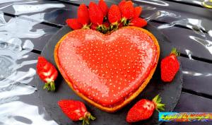 Tarte cœur de fraises