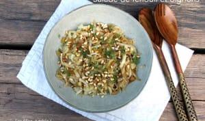 Salade de fenouil et oignons aigre-doux