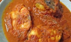 Curry de poisson, curcuma, tomate, tamarin
