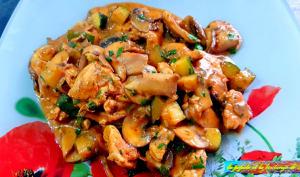 Filet de poulet au wok