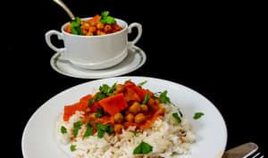 Curry de patates douces aux pois chiches