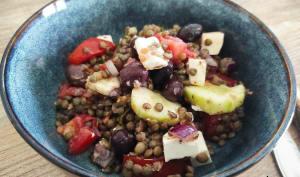 Salade de lentilles aux tomates et à la Feta