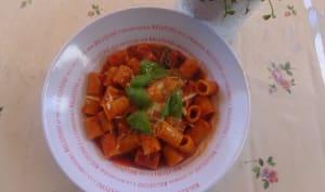 Maccheroni 'nduja calabrese et tomates