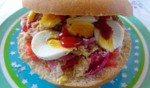 Sandwich salade thon et œuf