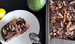 Gâteau chocolat coco à la courgette