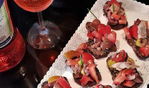 Bruschetta à la tomate et olives