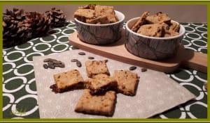 Biscuits apéros aux graines et tomates séchées