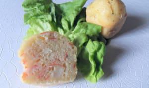 Gâteau au yaourt surimi et fromage à l'ail et fines herbes